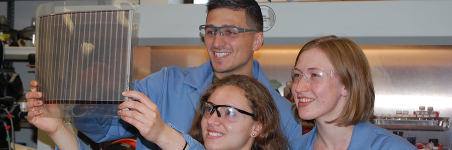 Group of graduate students in lab